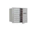 Salsbury Industries 3707D-12AFU Recessed Mounted 4C Horizontal Mailbox - 7 Door High Unit (27 Inches) - Double Column - 12 MB1 Doors - Aluminum - Front Loading - USPS Access