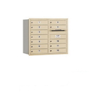 Salsbury Industries 3707D-12SRU Recessed Mounted 4C Horizontal Mailbox - 7 Door High Unit (27 Inches) - Double Column - 12 MB1 Doors - Sandstone - Rear Loading - USPS Access