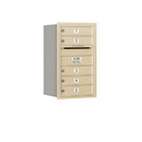 Salsbury Industries 3707S-05SRP Recessed Mounted 4C Horizontal Mailbox - 7 Door High Unit (27 Inches) - Single Column - 5 MB1 Doors - Sandstone - Rear Loading - Private Access