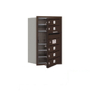 Salsbury Industries 3707S-05ZFP Recessed Mounted 4C Horizontal Mailbox (Includes Master Commercial Lock)-7 Door High Unit (27 Inches)-Single Column-5 MB1 Doors-Bronze-Front Loading-Private Access