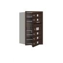 Salsbury Industries 3707S-05ZFU Recessed Mounted 4C Horizontal Mailbox - 7 Door High Unit (27 Inches) - Single Column - 5 MB1 Doors - Bronze - Front Loading - USPS Access