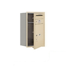 Salsbury Industries 3707S-1PSFP Recessed Mounted 4C Horizontal Mailbox-7 Door High Unit(27 Inches)-Single Column-Stand-Alone Parcel Locker-1 PL5 with Outgoing Mail Compartment-Sandstone