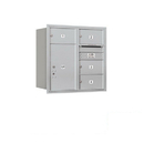 Salsbury Industries 3708D-04ARP Recessed Mounted 4C Horizontal Mailbox - 8 Door High Unit (30 1/2 Inches) - Double Column - 4 MB2 Doors / 1 PL6 - Aluminum - Rear Loading - Private Access