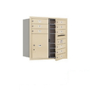 Salsbury Industries 3708D-09SFP Recessed Mounted 4C Horizontal Mailbox - 8 Door High Unit (30 1/2 Inches) - Double Column - 9 MB1 Doors / 1 PL5 - Sandstone - Front Loading - Private Access