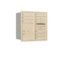 Salsbury Industries 3708D-09SRU Recessed Mounted 4C Horizontal Mailbox - 8 Door High Unit (30 1/2 Inches) - Double Column - 9 MB1 Doors / 1 PL5 - Sandstone - Rear Loading - USPS Access