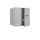 Salsbury Industries 3708D-13AFP Recessed Mounted 4C Horizontal Mailbox - 8 Door High Unit (30 1/2 Inches) - Double Column - 13 MB1 Doors - Aluminum - Front Loading - Private Access