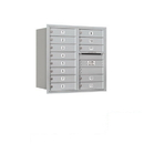 Salsbury Industries 3708D-13ARP Recessed Mounted 4C Horizontal Mailbox - 8 Door High Unit (30 1/2 Inches) - Double Column - 13 MB1 Doors - Aluminum - Rear Loading - Private Access