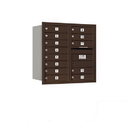 Salsbury Industries 3708D-13ZRP Recessed Mounted 4C Horizontal Mailbox - 8 Door High Unit (30 1/2 Inches) - Double Column - 13 MB1 Doors - Bronze - Rear Loading - Private Access