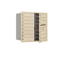 Salsbury Industries 3708D-14SFU Recessed Mounted 4C Horizontal Mailbox - 8 Door High Unit (30 1/2 Inches) - Double Column - 14 MB1 Doors - Sandstone - Front Loading - USPS Access