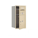 Salsbury Industries 3708S-01SFP Recessed Mounted 4C Horizontal Mailbox - 8 Door High Unit (30 1/2 Inches) - Single Column - 1 MB1 Door / 1PL5 - Sandstone - Front Loading - Private Access
