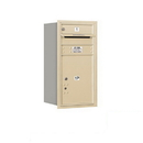 Salsbury Industries 3708S-01SRP Recessed Mounted 4C Horizontal Mailbox - 8 Door High Unit (30 1/2 Inches) - Single Column - 1 MB1 Door / 1PL5 - Sandstone - Rear Loading - Private Access