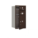 Salsbury Industries 3708S-01ZFP Recessed Mounted 4C Horizontal Mailbox - 8 Door High Unit (30 1/2 Inches) - Single Column - 1 MB1 Door / 1PL5 - Bronze - Front Loading - Private Access