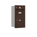 Salsbury Industries 3708S-01ZRP Recessed Mounted 4C Horizontal Mailbox - 8 Door High Unit (30 1/2 Inches) - Single Column - 1 MB1 Door / 1PL5 - Bronze - Rear Loading - Private Access