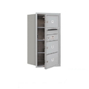 Salsbury Industries 3708S-03AFU Recessed Mounted 4C Horizontal Mailbox - 8 Door High Unit (30 1/2 Inches) - Single Column - 3 MB2 Doors - Aluminum - Front Loading - USPS Access
