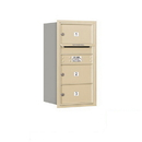 Salsbury Industries 3708S-03SRP Recessed Mounted 4C Horizontal Mailbox - 8 Door High Unit (30 1/2 Inches) - Single Column - 3 MB2 Doors - Sandstone - Rear Loading - Private Access