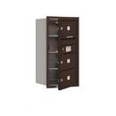 Salsbury Industries 3708S-03ZFU Recessed Mounted 4C Horizontal Mailbox - 8 Door High Unit (30 1/2 Inches) - Single Column - 3 MB2 Doors - Bronze - Front Loading - USPS Access