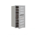 Salsbury Industries 3708S-06AFU Recessed Mounted 4C Horizontal Mailbox - 8 Door High Unit (30 1/2 Inches) - Single Column - 6 MB1 Doors - Aluminum - Front Loading - USPS Access