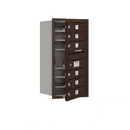 Salsbury Industries 3708S-06ZFP Recessed Mounted 4C Horizontal Mailbox - 8 Door High Unit (30 1/2 Inches) - Single Column - 6 MB1 Doors - Bronze - Front Loading - Private Access