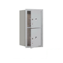 Salsbury Industries 3708S-2PAFP Recessed Mounted 4C Horizontal Mailbox-8 Door High Unit (30 1/2 Inches)-Single Column-Stand-Alone Parcel Locker-2 PL4's-Aluminum-Front Loading-Private Access