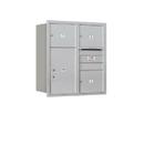 Salsbury Industries 3709D-03ARU Recessed Mounted 4C Horizontal Mailbox - 9 Door High Unit (34 Inches) - Double Column - 3 MB3 Doors / 1 PL6 - Aluminum - Rear Loading - USPS Access