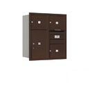 Salsbury Industries 3709D-03ZRP Recessed Mounted 4C Horizontal Mailbox - 9 Door High Unit (34 Inches) - Double Column - 3 MB3 Doors / 1 PL6 - Bronze - Rear Loading - Private Access