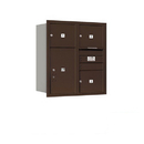 Salsbury Industries 3709D-03ZRU Recessed Mounted 4C Horizontal Mailbox - 9 Door High Unit (34 Inches) - Double Column - 3 MB3 Doors / 1 PL6 - Bronze - Rear Loading - USPS Access