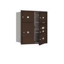 Salsbury Industries 3709D-04ZFU Recessed Mounted 4C Horizontal Mailbox - 9 Door High Unit (34 Inches) - Double Column - 1 MB1 Door / 3 MB3 Doors / 1 PL6 - Bronze - Front Loading - USPS Access