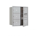 Salsbury Industries 3709D-05AFU Recessed Mounted 4C Horizontal Mailbox - 9 Door High Unit (34 Inches) - Double Column - 5 MB3 Doors - Aluminum - Front Loading - USPS Access
