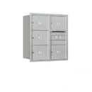 Salsbury Industries 3709D-05ARU Recessed Mounted 4C Horizontal Mailbox - 9 Door High Unit (34 Inches) - Double Column - 5 MB3 Doors - Aluminum - Rear Loading - USPS Access