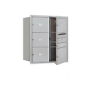 Salsbury Industries 3709D-06AFP Recessed Mounted 4C Horizontal Mailbox - 9 Door High Unit (34 Inches) - Double Column - 1 MB1 Door / 5 MB3 Doors - Aluminum - Front Loading - Private Access