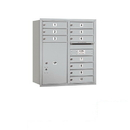 Salsbury Industries 3709D-10ARP Recessed Mounted 4C Horizontal Mailbox - 9 Door High Unit (34 Inches) - Double Column - 10 MB1 Doors / 1 PL6 - Aluminum - Rear Loading - Private Access