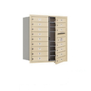 Salsbury Industries 3709D-16SFU Recessed Mounted 4C Horizontal Mailbox - 9 Door High Unit (34 Inches) - Double Column - 16 MB1 Doors - Sandstone - Front Loading - USPS Access