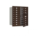 Salsbury Industries 3709D-16ZFP Recessed Mounted 4C Horizontal Mailbox (Includes Master Commercial Lock)-9 Door High Unit (34 Inches)-Double Column-16 MB1 Doors-Bronze-Front Loading-Private Access
