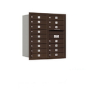 Salsbury Industries 3709D-16ZRU Recessed Mounted 4C Horizontal Mailbox - 9 Door High Unit (34 Inches) - Double Column - 16 MB1 Doors - Bronze - Rear Loading - USPS Access