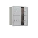 Salsbury Industries 3709D-4PAFU Recessed Mounted 4C Horizontal Mailbox-9 Door High Unit (34 Inches)-Double Column-Stand-Alone Parcel Locker-2 PL4's and 2 PL5's-Aluminum-Front Loading-USPS Access