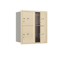 Salsbury Industries 3709D-4PSFU Recessed Mounted 4C Horizontal Mailbox-9 Door High Unit (34 Inches)-Double Column-Stand-Alone Parcel Locker-2 PL4's and 2 PL5's-Sandstone-Front Loading-USPS Access