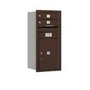 Salsbury Industries 3709S-02ZRU Recessed Mounted 4C Horizontal Mailbox - 9 Door High Unit (34 Inches) - Single Column - 2 MB1 Doors / 1 PL5 - Bronze - Rear Loading - USPS Access