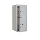 Salsbury Industries 3709S-2PAFU Recessed Mounted 4C Horizontal Mailbox-9 Door High Unit (34 Inches)-Single Column-Stand-Alone Parcel Locker-1 PL4 and 1 PL5-Aluminum-Front Loading-USPS Access