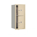 Salsbury Industries 3709S-2PSFP Recessed Mounted 4C Horizontal Mailbox-9 Door High Unit (34 Inches)-Single Column-Stand-Alone Parcel Locker-1 PL4 and 1 PL5-Sandstone-Front Loading-Private Access