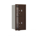 Salsbury Industries 3709S-2PZFU Recessed Mounted 4C Horizontal Mailbox-9 Door High Unit (34 Inches)-Single Column-Stand-Alone Parcel Locker-1 PL4 and 1 PL5-Bronze-Front Loading-USPS Access