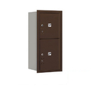 Salsbury Industries 3709S-2PZRP Recessed Mounted 4C Horizontal Mailbox-9 Door High Unit (34 Inches)-Single Column-Stand-Alone Parcel Locker-1 PL4 and 1 PL5-Bronze-Rear Loading-Private Access