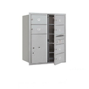 Salsbury Industries 3710D-06AFU Recessed Mounted 4C Horizontal Mailbox - 10 Door High Unit (37 1/2 Inches) - Double Column - 6 MB2 Doors / 1 PL6 - Aluminum - Front Loading - USPS Access