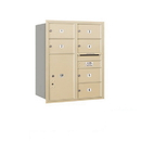 Salsbury Industries 3710D-06SRU Recessed Mounted 4C Horizontal Mailbox - 10 Door High Unit (37 1/2 Inches) - Double Column - 6 MB2 Doors / 1 PL6 - Sandstone - Rear Loading - USPS Access