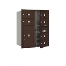 Salsbury Industries 3710D-06ZFP Recessed Mounted 4C Horizontal Mailbox - 10 Door High Unit (37 1/2 Inches) - Double Column - 6 MB2 Doors / 1 PL6 - Bronze - Front Loading - Private Access