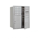 Salsbury Industries 3710D-07AFU Recessed Mounted 4C Horizontal Mailbox - 10 Door High Unit (37 1/2 Inches) - Double Column - 7 MB1 Doors / 1 PL5 and 1 PL6 - Aluminum - Front Loading - USPS Access