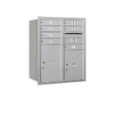 Salsbury Industries 3710D-07ARU Recessed Mounted 4C Horizontal Mailbox - 10 Door High Unit (37 1/2 Inches) - Double Column - 7 MB1 Doors / 1 PL5 and 1 PL6 - Aluminum - Rear Loading - USPS Access