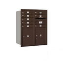 Salsbury Industries 3710D-08ZRP Recessed Mounted 4C Horizontal Mailbox - 10 Door High Unit (37 1/2 Inches) - Double Column - 8 MB1 Doors / 2 PL5s - Bronze - Rear Loading - Private Access