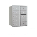 Salsbury Industries 3710D-09ARU Recessed Mounted 4C Horizontal Mailbox - 10 Door High Unit (37 1/2 Inches) - Double Column - 9 MB2 Doors - Aluminum - Rear Loading - USPS Access