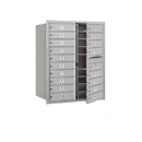 Salsbury Industries 3710D-18AFP Recessed Mounted 4C Horizontal Mailbox - 10 Door High Unit (37 1/2 Inches) - Double Column - 18 MB1 Doors - Aluminum - Front Loading - Private Access