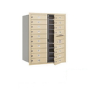 Salsbury Industries 3710D-18SFP Recessed Mounted 4C Horizontal Mailbox - 10 Door High Unit (37 1/2 Inches) - Double Column - 18 MB1 Doors - Sandstone - Front Loading - Private Access